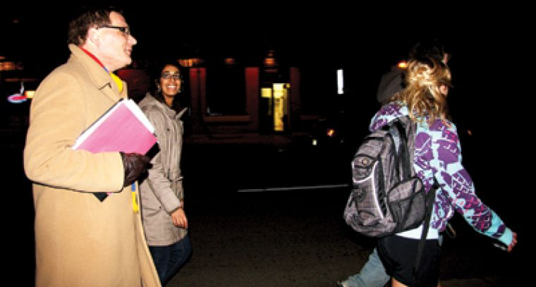 Queen's Principal Daniel Woolf participates in Walkhome's Walk-a-thon for charity on Nov. 12.