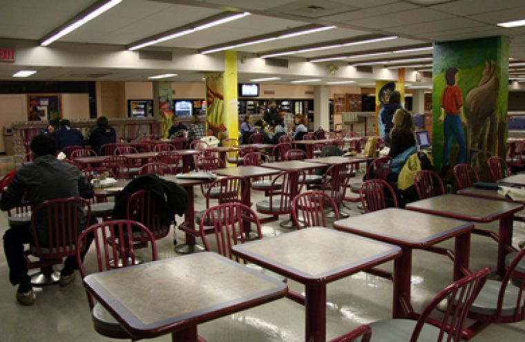 Public spaces such as bulletin boards and lunchrooms are considered private property by Human Resources and are off-limits for the dissemination of particular kinds of information.