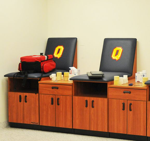 Athletic therapy rooms in the Queen's Centre's ARC are one of the features of the $165-million facility.
