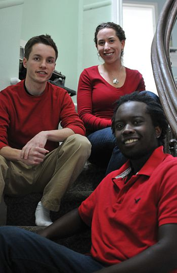 AMS presidential candidate Mitch Piper, vice-president (university affairs) candidate Davina Finn and vice-president (operations) candidate Kasmet Niyongabo say they will provide bursaries for people who need accessible spaces on campus.