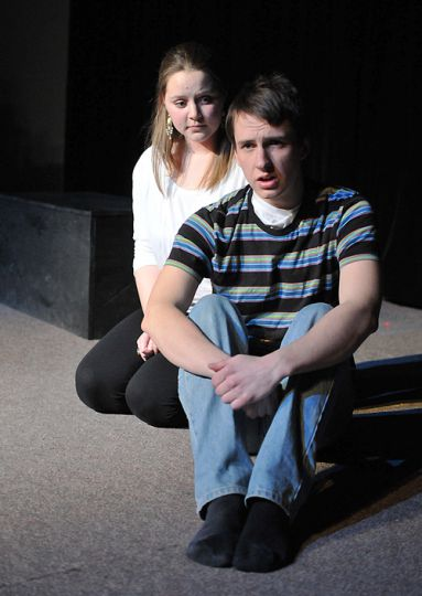 John & Jen features only two actors: Katie Bell (left) as Jen and Edward Larocque as John.
