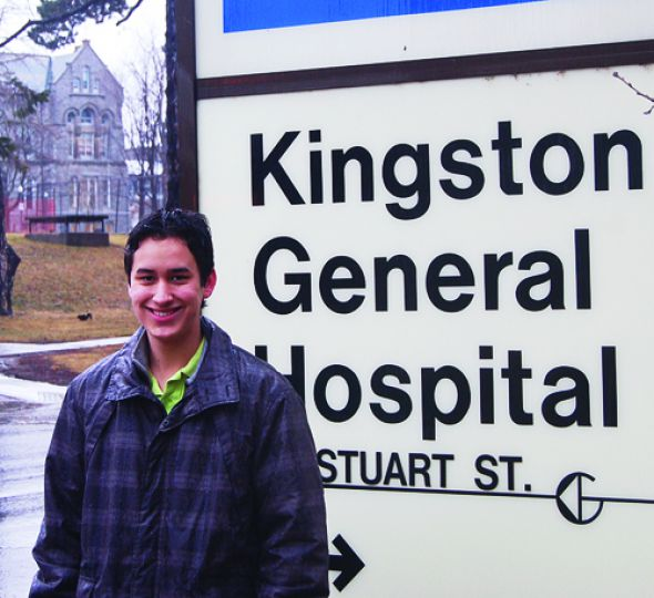Murray Wong, Sci '13, says he thinks working on a more open-ended, uncertain assignment with a local hospital was a valuable learning experience.