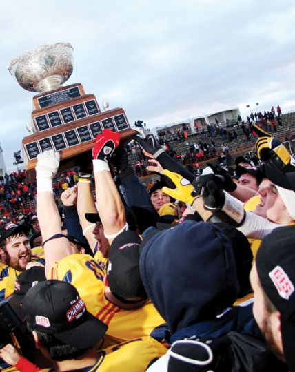 The Gaels football team won the Yates Cup, the Mitchell Bowl and the Vanier Cup this year, solidifying themselves as the best university football team in Canada. They have been nominated by the OUA for the Sporting Alliance of Ontario's Team of the Year.