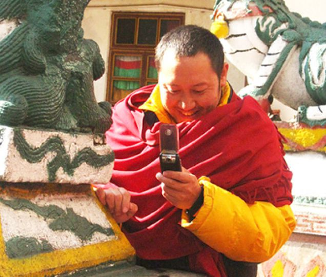 The proliferation of technology into modern culture is evident in many Buddhist monasteries, hinting at the closing ties between spirituality and modernity.