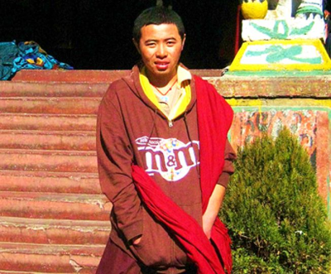 Buddhist monks traditionally wear robes, but brand-name clothing is slowly making its way into monasteries.