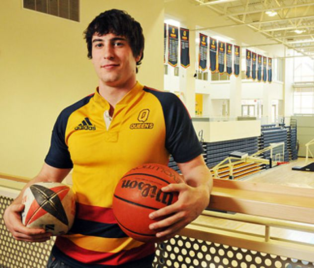 Chris Barrett starred for the rugby and basketball team this season. He's decided to concentrate on basketball next year.