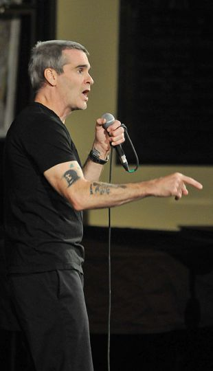 Henry Rollins performs at Sydenham St. United Church last Wednesday.