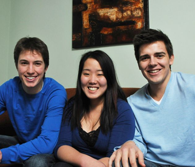 From left to right: Michael Ceci, Leslie Yun and Adam Zabrodski.