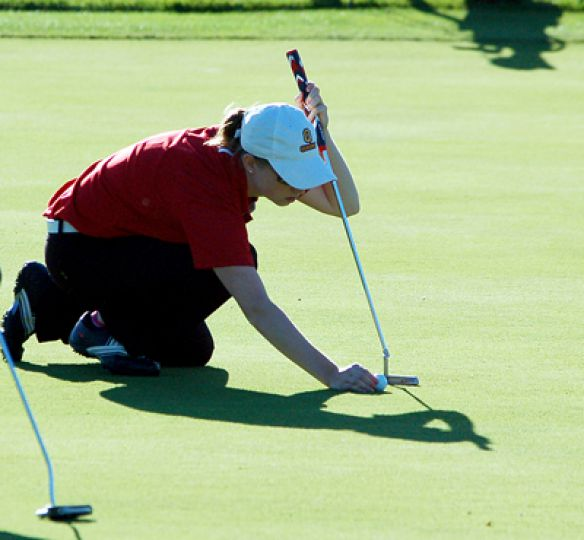 The women's golf team only became a varsity sport this year and finished second in the OUA.