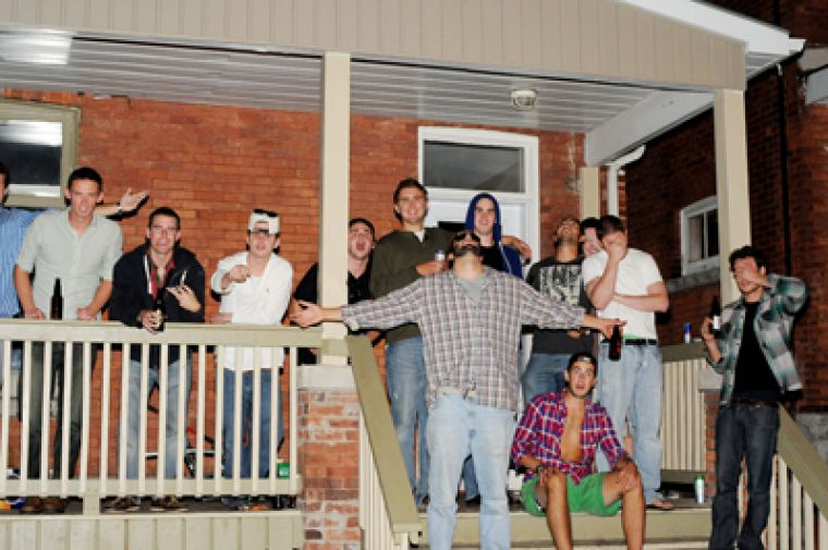 Porch party on Aberdeen St.