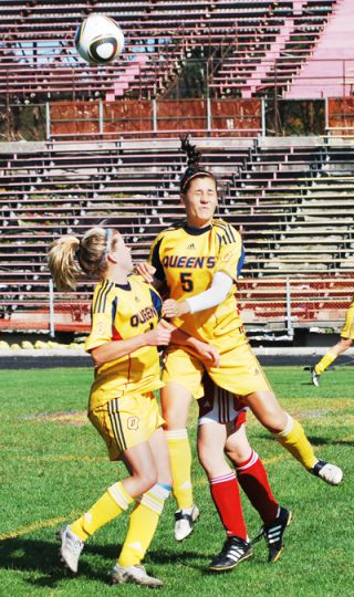The women's soccer team came away from their home-and-home series with six points, defeating RMC Saturday 2-1 and on Sunday 6-0.