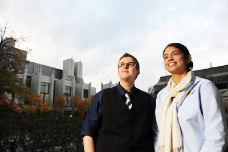Chair of Education on Queer Issues Project Kate Pritchard (left) and Social Issues Commissioner Daniella Davila (right) are spearheading a high school mentorship program to raise awareness about discrimination againt LGBT communities.