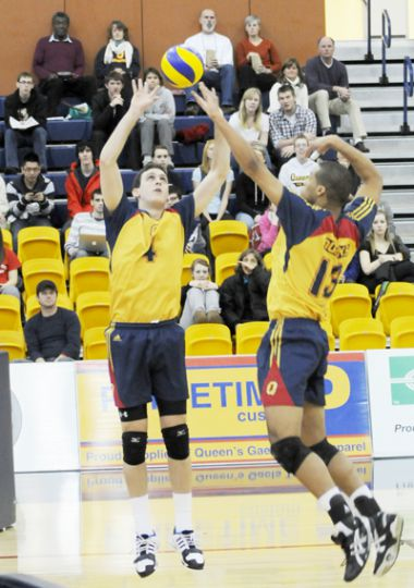 The men's volleyball team will be at the ARC Saturday in the quarter-finals against the Warriors.