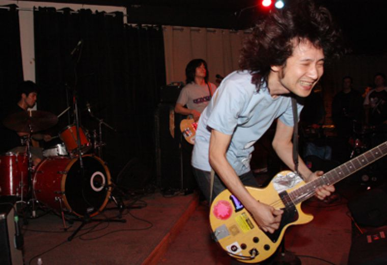 The Zoobombs performed a highly anticipated and gloriously noisy show at The Mansion on Tuesday night, filtering their apt classic rock and funk influences through Japan's trademark tradition of decidedly frantic rock 'n' roll chaos.