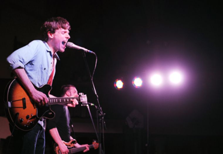 The east coast's favourite crooner Joel Plaskett (top) stopped through Kingston to play a vibrantly reverent gig at Sydenham St. United.