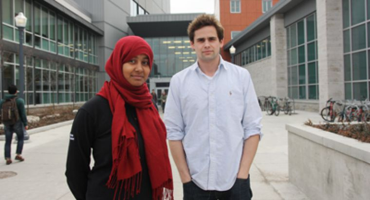 AMS President Safiah Chowdhury, ArtSci '11, and AMS Vice-President (Operations) Ben Hartley have been working towards the Operations and Management agreement since June 2010.