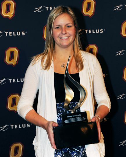 Lisa McLaughlin of women's lacrosse was awarded top female varsity club athlete.