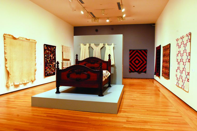 The Agnes Etherington Art Centre has over 65 quilts which are rotated out of storage and into the exhibit periodically. A photo gallery of the quilt inventory is available at at www.aeac.ca.