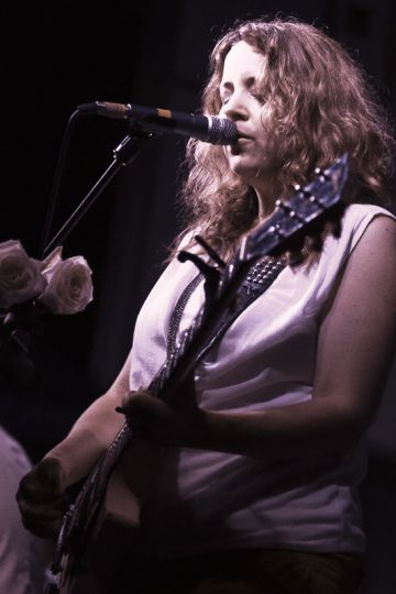 Stars dedicated their set to Delphine, the baby girl of singer-guitarist Amy Millan (above) and bassist Evan Cranley born in March.