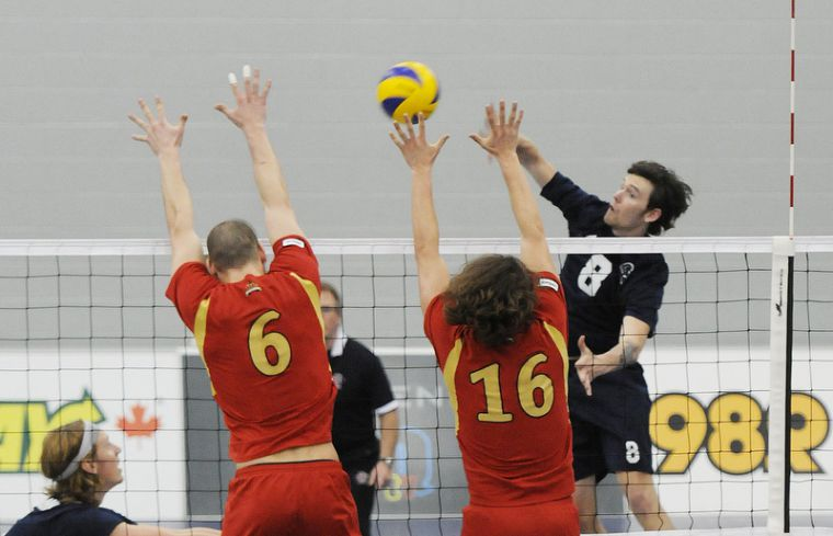 KINGSTON, Ont. (04/03/2012) - 2012 CIS Men's Volleyball Championship Gold Medal Game - Trinity Western Spartans vs. Laval Rouge et Or