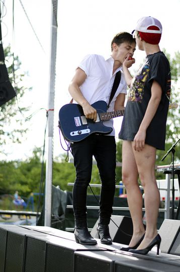 July Talk played at Wolfe Island Music Festival on Aug. 10.