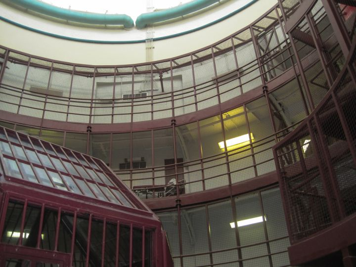 Under the main dome of the main cell block.