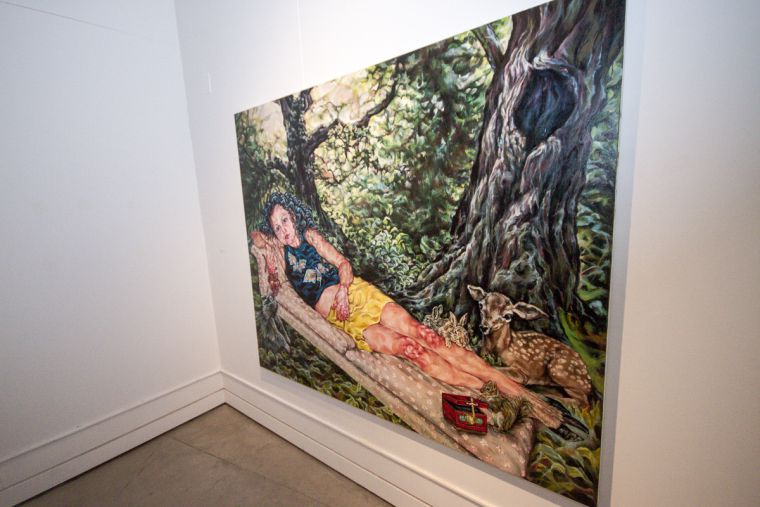 Tammy Salvl uses gouache and charcoal in her chillingly detailed pieces.