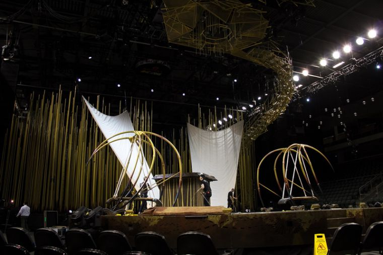 The media was invited to a behind the scenes tour of the Cirque du Soleil set-up at the K-Rock Centre yesterday afternoon.