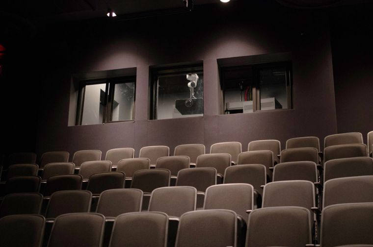 A 92-seat screening room.