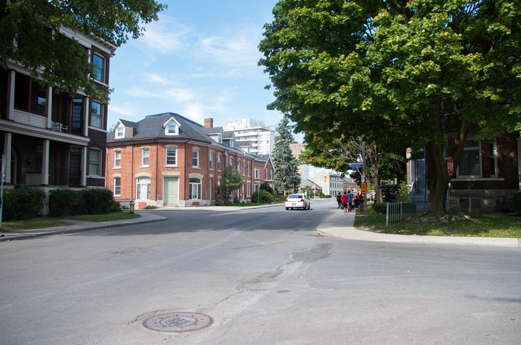 The corner of William and Barrie Streets.