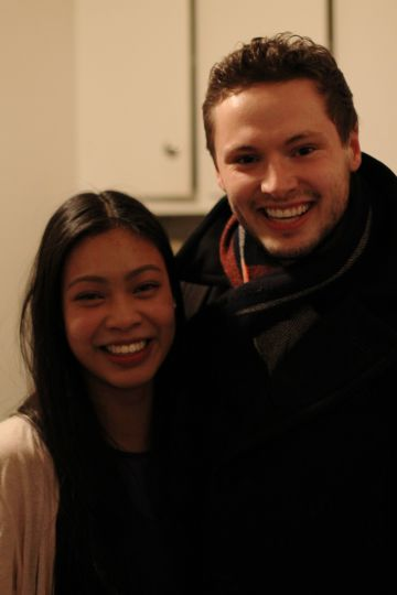 Undergraduate Student Trustee-elect Jennifer Li and current trustee Andrew Aulthouse.