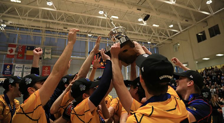 The Gaels hoist the Forsyth Cup for the first time in seven years.
