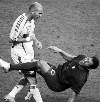 Zinedine Zidane's moment of fury tarnished his last World Cup game.
