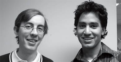Tim Ginn, left, and Vishaal Patel, both CompSci '08, are running for COMPSA president.