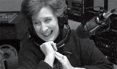 """Hitchcock pre-records her radio show, """"The Best of our Knowledge,"""" at CFRC every Wednesday. It's broadcasted to over 125 countries from Albany, N.Y."""