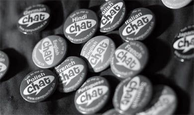 The Chat program started out with only 500 buttons. Today, 4,000 language buttons give students from diverse backgrounds the chance to share conversation and make connections.