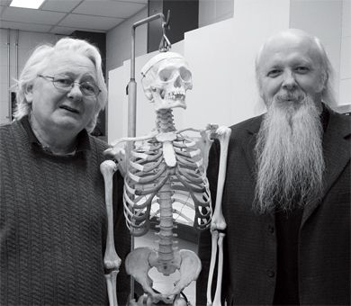 Professor Ron Easteal, left, and Professor Les Mackenzie, both from the department of anatomy and cell biology, collaborated to create a new master's program in anatomical sciences.