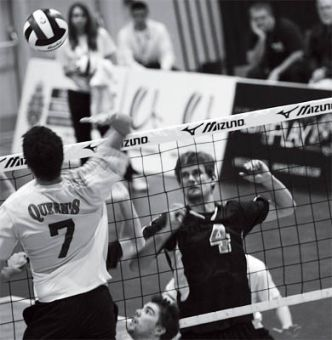 Chris Van Dyk goes in for the kill against UBC last Friday