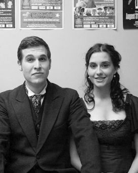 Keith Bennie and Mandy Doherty after the performance of Miss Julie.