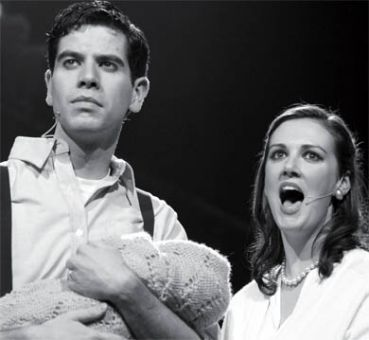 Rob Kempson as the Baker and Carly Heffernan as the Baker's Wife.
