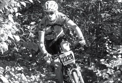 Darryl McGrath is a member of the Queen's mountain biking team coached by third-year student Cam Robertston.