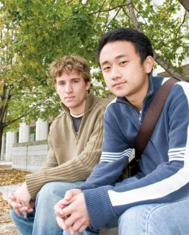Queen's Sustainability Club members: Gareth Chantler and George Liu.