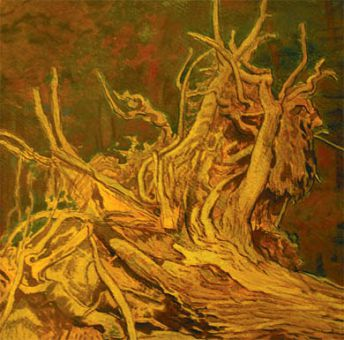 """Detail from Daniel Fowler's potent and pastoral """"Fallen Tree."""""""