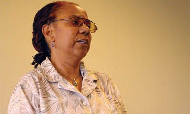 Poet Lillian Allen, the University's first ever writer-in-residence, read from her work Tuesday.