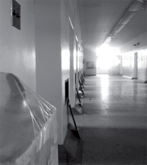The wide hallways of Rockwood were designed for patients to socialize.
