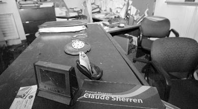 Damage was limited mainly to AMS general manager Claude Sherren's office, and is estimated to cost $20,000 to $30,000.