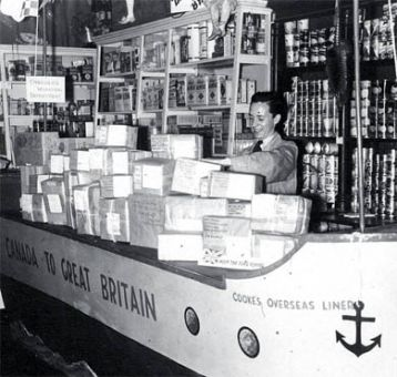 During the Second World War, Cooke's packaged and sent care packages to Canadian soldiers.