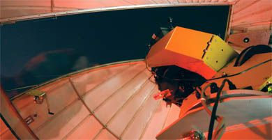 The telescope at the Queen's Observatory has been at its current location on the roof of Ellis Hall since 1958. The observatory will next be open to the public on Saturday, Feb. 10 from 7:30 to 9:30 p.m.