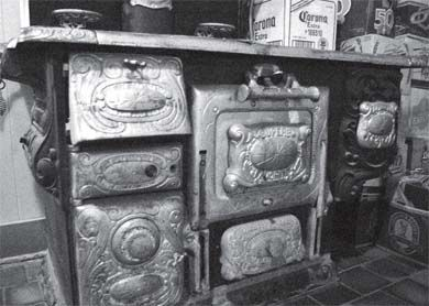 The stove in the Royal Tavern dates back to the 1880s.