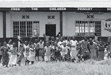 Since 1995, Free The Children has built 450 primary schools like this one in Sierra Leone.